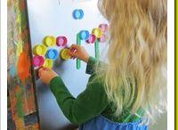 Materiál - vršky z PET lahví / Tvoření, malování a aktivity pro děti s vršky od PET lahví