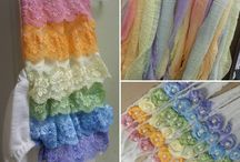 newborn photography props Rainbow cake smash romper session idea wrap cheesecloth headband tiebacks