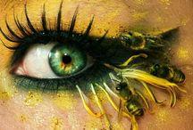 Maquilladora alemana crea obras de arte en sus ojos / Svenja Schmitt, un artista alemana del maquillaje, crea hermosas obras de arte alrededor de sus ojos utilizando materiales inusuales como plumas, minianimales, estrellas de mar y lentillas de colores. Svenja, que vive en Berlín, también conocida como la bloguera PixieCold, no se limita a la clásica sombras de ojos y al rimel.