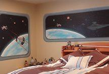 boys star wars/lego room