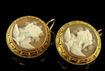 Antique Cameos / An amazing collection of mythological Antique Cameos from the Georgian period, through to the 1880s.  Exquisite carvings of very high standards with high relief workmanship boasting the finest of pieces seen today, all carved from shell and set with decorative frames.
