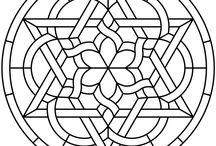 Zwart wit celtic afbeeldingen