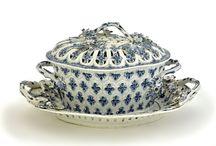 Blue and White Soft Paste Porcelain Chestnut Baskets