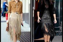 franjas saias.. vestidos