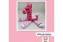 Pony toy sewing pattern / Pony horse plushie sewing pattern from www.cuddlecrewpatterns.com