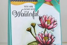Frog & Water Lily Clear Stamps