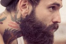 Beards&Tattoos / men, guys, beards, tattos.