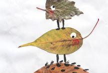 Искусство при помощи листьев