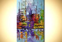 peintre acrylique