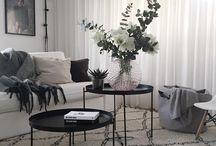 svart soffbord stål