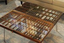 table basse-vitrine