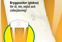 Bryggsocker (glukos) för öl, vin, mjöd och ciderjäsning / Ersätt strösocker i recept med 10% mer bryggsocker (glukos) för renare och starkare jäsning av öl, vin, mjöd, cider. Bryggsocker (dextros) innehåller en vattenmolekyl mer, därför måste man ta 10% extra.