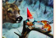 Rien Poortvliet kabouter wenskaarten - gnome greetingscards