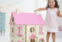 Dolls wooden house