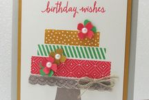 Stampin Up: Build A Birthday / Stampin' Up! Build A Birthday Cards