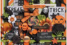 {O'Halloween} Digital Scrapbook Kit by Aprilisa Designs