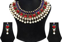 Dazzling Kundan Party & Wedding Wear Jewelry Necklace Set