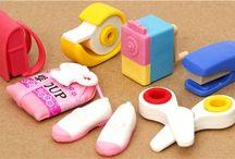 Japanese Eraser Set / http://www.modes4u.com/en/cute/c139_Eraser.html