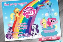 My Little Pony Birthday Invitation & Printable Party Decoration Idea