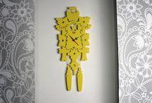 Orologi da parete di design / Orologio da parete realizzati in lamiera di ferro e acciaio tagliata a laser. Meccanismo MADE IN GERMANY mod. JUNGHAIS. Design e progettazione MADE IN ITALY.