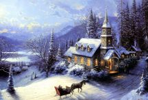 The Art of Christmas / This board contains #Christmas themed #paintings and #drawings which captures the essence of this beautiful #holiday.  Enjoy these artworks as well as the holidays!