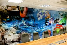 Office Wall Graphics / Creating a productive working space is about more than furniture - wall graphics are key to creating a great atmosphere.