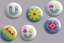 pins buttons