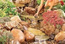 Garden ponds and water features / Garden Ponds, water features, Garden Water Features, Water Feature Ideas