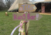 Kata Giant Hat Tipi Decorations / Our bride and grooms from 2013 have very kindly sent us their pictures showing you the original ways they have decorated the tipis for the wedding reception. Simple and vibrant decorations galore.