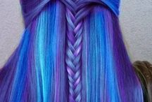 """haircuts/haircolors/hairstyles / be """"different"""" ~I wanna have rainbow on my head"""