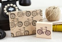 Rubber stamps and linoleum
