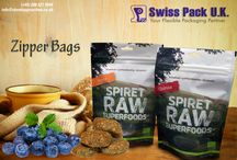 Zipper Bags / Swiss Pac introduces #ZipperBags to retain the freshness and flavor of the product as well as protecting it from external contamination. #ZipperBags are easy to use and allows sealing of the bags preventing the product form any damage or breakage. Zipper bags are environmentally friendly and use less than 75% plastic than rigid containers. http://www.standuppouches.co.uk/zipper-bags.htm