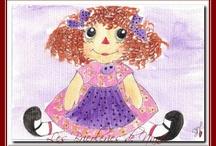 poupées de chiffons style Raggedy Ann