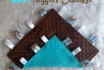 sewing ideas baby taggies blankies