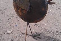 Metal junk art