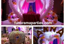 Little Princess Themed Parties & Balloon Decor / Princess Carriage, Little Princess Party decorations, Stage decorations, Fabric drapery, Princess Balloon Centerpieces, Princess Balloon Columns- Atlanta Party decorations