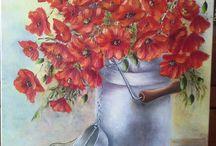 Bouquet campagnard aux coquelicots !