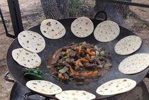parrillas, grills, wok