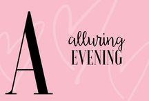 LA.LILA & ALLURING EVENING / Tablica inspiracyjna, prezentująca przykłady aranżacji wieczornych przyjęć