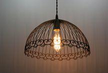 Industrial lighting, Cage Light Chandelier
