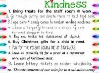 Random Acts of Kindness for Advent and Christmas