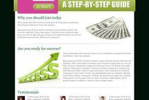 make money online landing page design