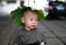 A cute little monk in Xichan Temple