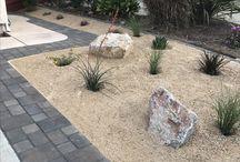 pavers, plants, with dg