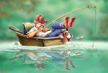 рыбалка..