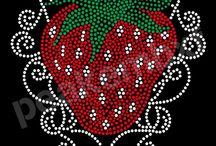 Strawberry Rhinestone Transfers / Strawberry Rhinestone Transfers