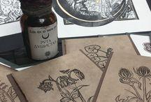 Открытки и линогравюры ручной работы