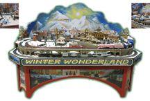 Angela Trotta Thomas Winter Wonderland / This board is dedicated to Dunham Studios' small 4' x 8' O scale custom model railroads, custom train layouts, custom model train layouts, custom model railways, train accessories and more