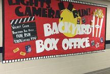 On Campus Backyard Box Office Decorations / Great examples from other Boosterthon schools on how to decorate your school for Backyard Box Office!