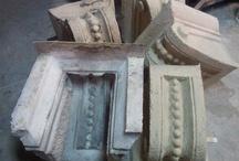 Molde de silicona, restauración de fachadas. /  Moldes de silicona para rehabilitación de fachadas .  Moulds for rehabilitation of facades